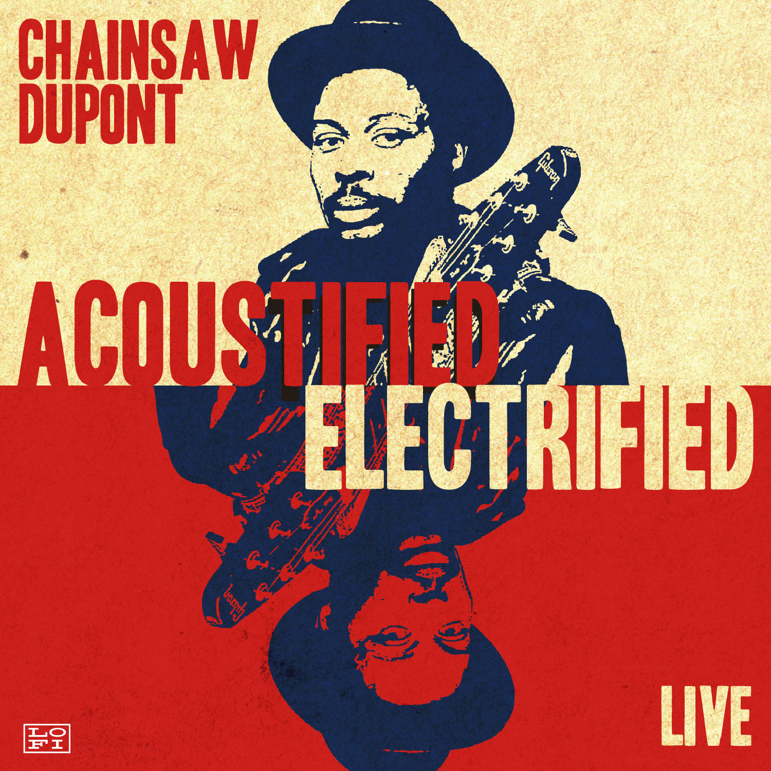 """1-sheets: """"Acoustified / Electrified"""", Chainsaw Dupont"""